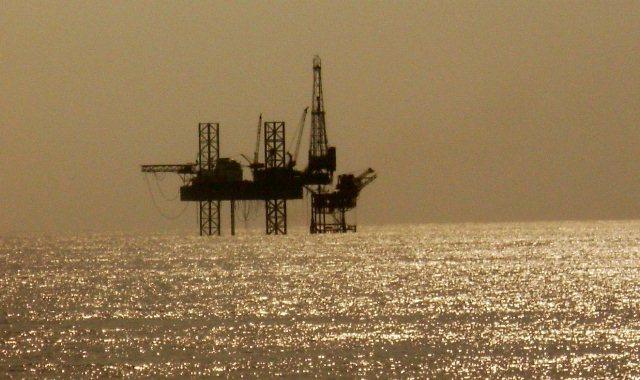 oil rig haze