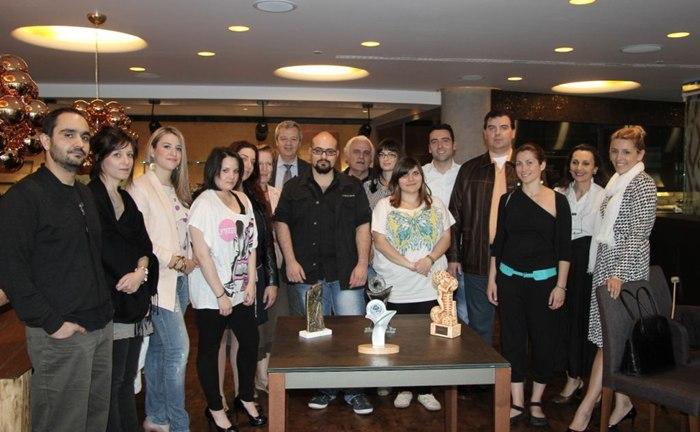 Στελέχη του ECOCITY με την ομάδα του Τμήματος Βιομηχανικού Σχεδιασμού ΤΕΙ Δυτικής Μακεδονίας