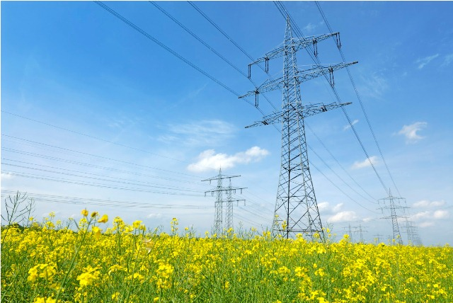 Electricity Pylons – Yellow