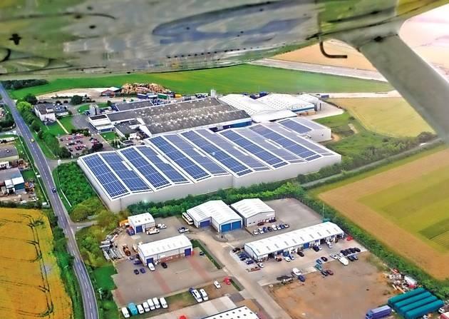 Στέγη παραγωγής 1GW ηλιακής ενέργειας