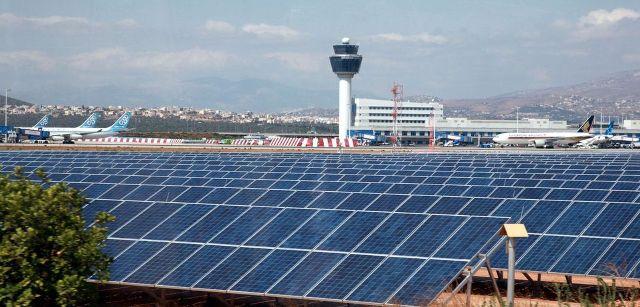 Υψηλής παραγωγικότητας το φωτοβολταϊκό πάρκο στο Διεθνή Αερολιμένα Αθηνών