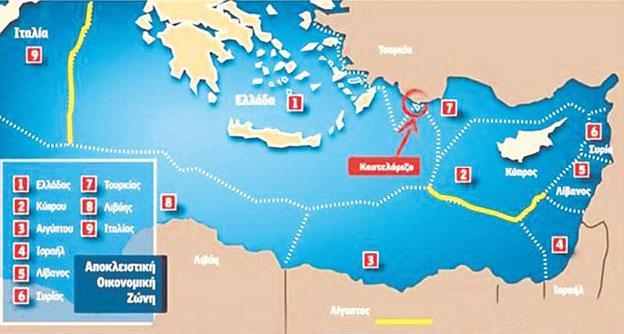 Μήνυμα Ελλάδας προς Ευρώπη για τις ΑΟΖ