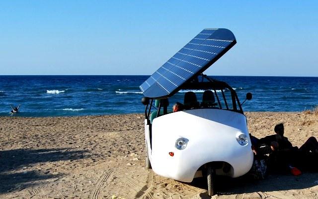 Ηλιακό τρίκυκλο από κρητικό Μηχανικό