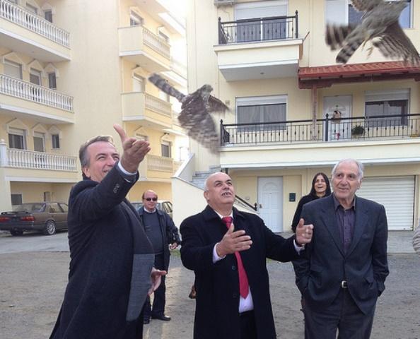 Επίσκεψη Καλαφάτη στο Δέλτα Αξιού
