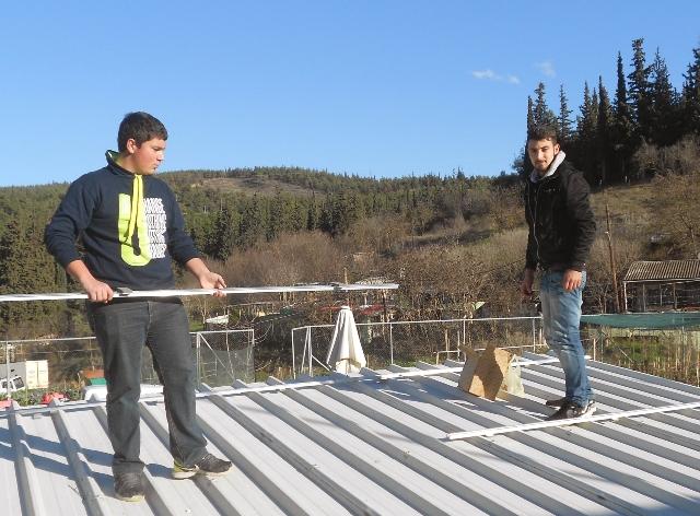 Φωτοβολταϊκό σύστημα άρδευσης από μαθητές