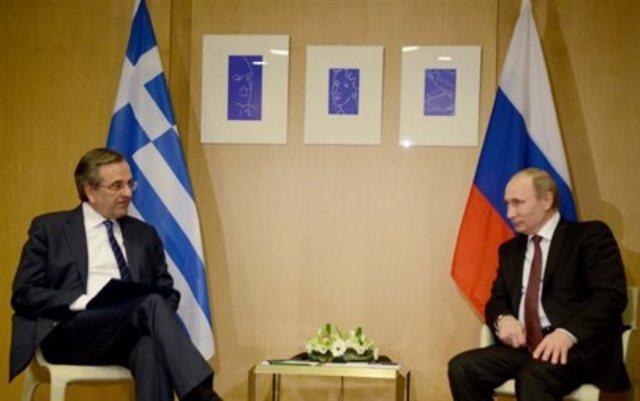 Σε καλό κλίμα η συνάντηση Σαμαρά-Πούτιν