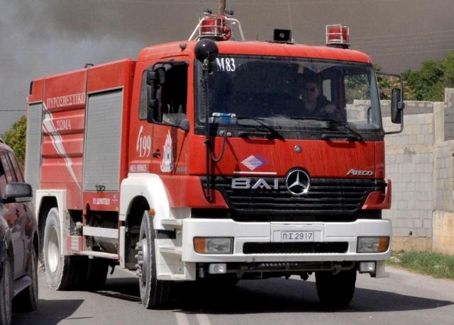 Πυρκαγιά στον Αγιόκαμπο Λάρισας