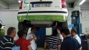 Από σεμινάριο κατάρτισης για τη χρήση φυσικού αερίου των μελών του Πανελληνίου Συλλόγου Πτυχιούχων Μηχανικών Οχημάτων στην Θεσσαλονίκη.