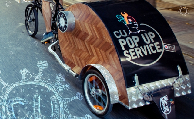 cu pop up service bike