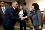 Ο υπουργός Περιβάλλοντος και Ενέργειας Πάνος Σκουρλέτης (Κ) υποδέχεται την υπουργό Ενέργειας της Βουλγαρίας Temenuzhka Petkova και  τον ειδικό απεσταλμένο και Συντονιστή για τις διεθνείς ενεργειακές σχέσεις των ΗΠΑ Amos Hochstein (Α) κατά τη διάρκεια συνάντησής τους στο υπουργείο, Αθήνα, Τετάρτη 14 Οκτωβρίου 2015. ΑΠΕ-ΜΠΕ/ΑΠΕ-ΜΠΕ/ΑΛΕΞΑΝΔΡΟΣ ΒΛΑΧΟΣ
