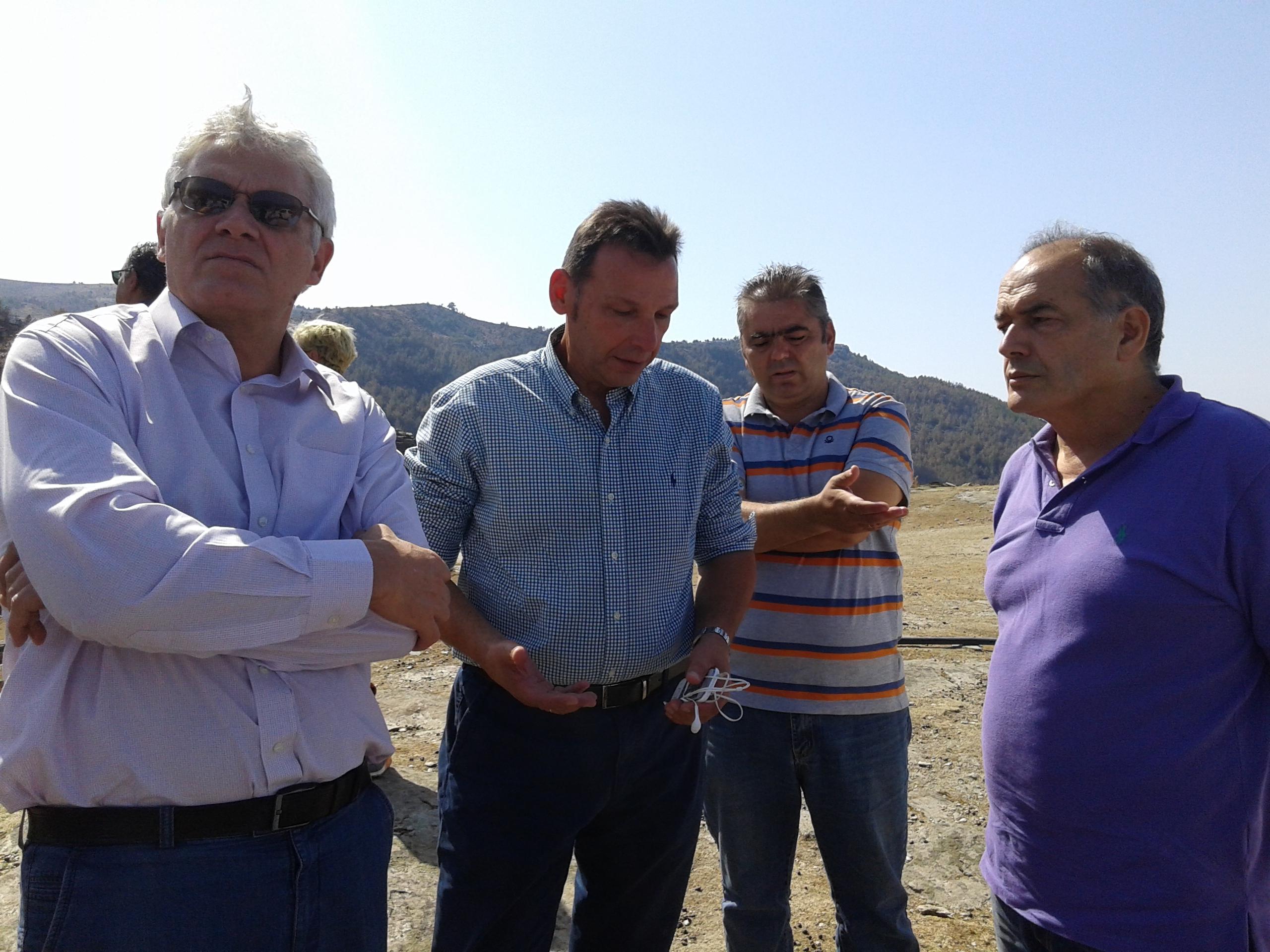 Επίσκεψη Γ. Τσιρώνη στη Θάσο για την αποκατάσταση των ζημιών για τις πυρκαγιές