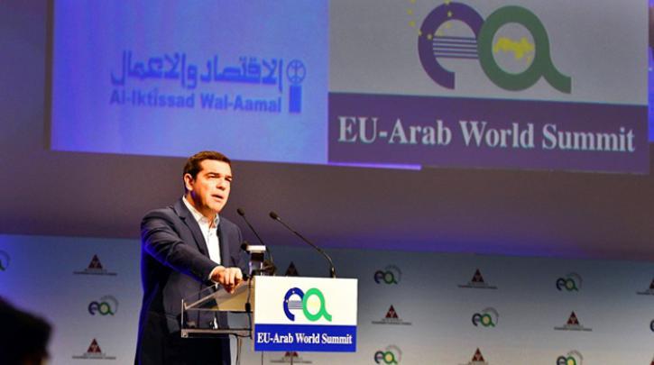 Αλ. Τσίπρας: Εμπόριο, επενδύσεις, ενεργεία και τουρισμός στο επίκεντρο της ελληνο-αραβικής συνεργασίας