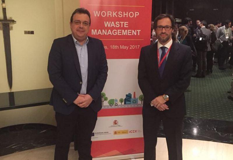 Κάλεσμα Φάμελλου για ελληνοϊσπανική συνεργασία στον τομέα διαχείρισης αποβλήτων