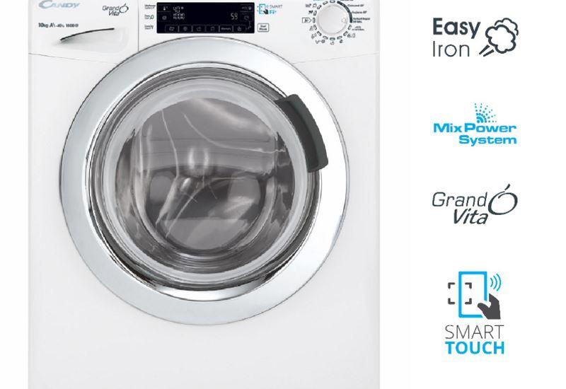Η νέα σειρά πλυντηρίων Candy Grand'O Vita με λειτουργία ατμού