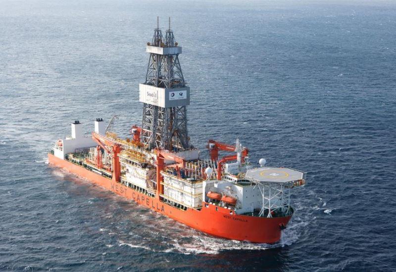 Εν πλω για την Κύπρο το γεωτρύπανο West Capella