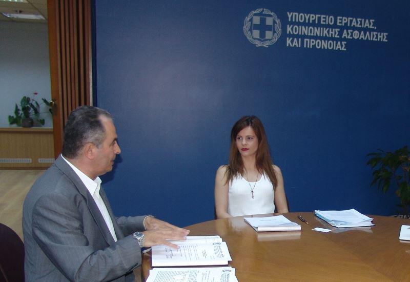 Συνάντηση ΓΕΝΟΠ/ΔΕΗ με την υπουργό εργασίας