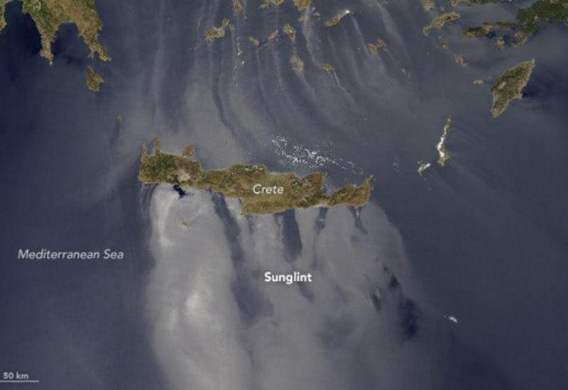 Nasa: To φαινόμενο Sunglint στα νερά του Αιγαίου (βίντεο)