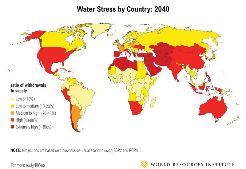 Η Ελλάδα ανάμεσα στις 33 χώρες με πρόβλημα λειψυδρίας έως το 2040