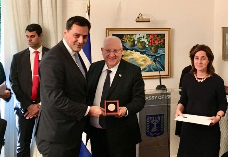 Βράβευση του CEO της Energean Oil & Gas για τις σχέσεις Ελλάδας- Ισραήλ
