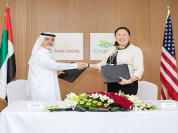 Saeed Mohammed, Chief Executive Officer Emirates Flight Catering και Sonia Lo, Chief Executive Officer Crop One Holdings