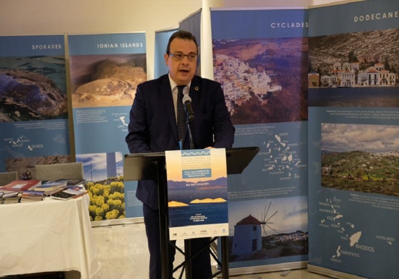 Εγκαίνια Έκθεσης Φωτογραφίας και Video για τα ελληνικά νησιά και τη βιοποικιλότητα στον ΟΗΕ