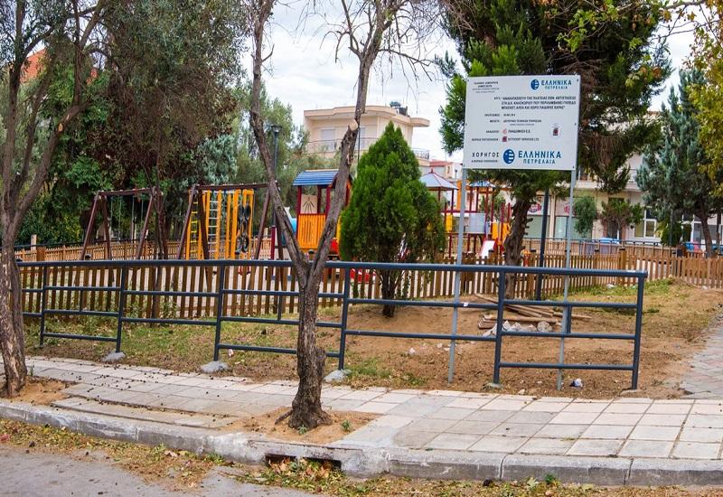 Με αποκλειστική χορηγία της ΕΛΠΕ η ανακατασκευή της πλατείας Εθνικής Αντιστάσεως Καλοχωρίου