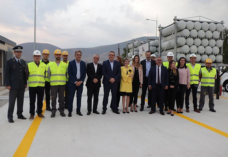 ΕΔΑ ΘΕΣΣ: Εγκαινιάστηκε ο πρώτος σταθμός αποσυμπίεσης φυσικού αερίου στον Τύρναβο Θεσσαλίας
