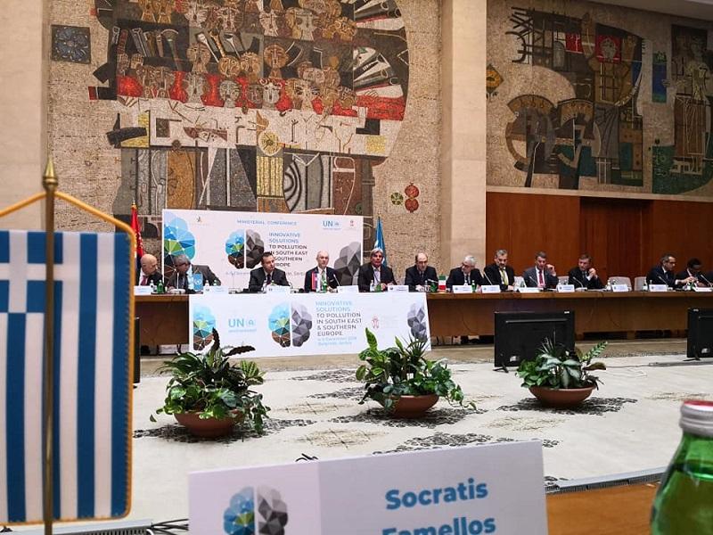 """Σ. Φάμελλος: """"Οι κοινές δράσεις για το περιβάλλον προωθούν την καινοτομία και την ευημερία στα Βαλκάνια"""""""