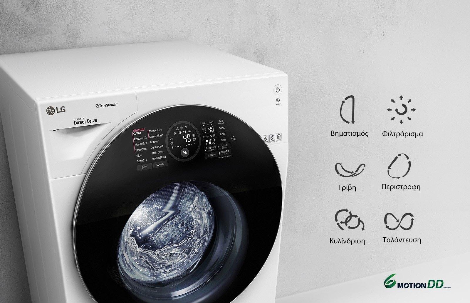 Ρούχα καθαρά και φρέσκα σαν από το καθαριστήριο με το Πλυντήριο-στεγνωτήριο LG TWINWash™