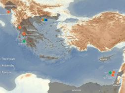Ο χάρτης με τις περιοχές δραστηριοποίησης της Energean