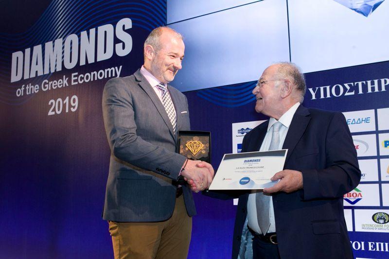 Η LG Electronics μεταξύ των δυναμικότερων ελληνικών επιχειρήσεων στα Diamonds of the Greek Economy 2019