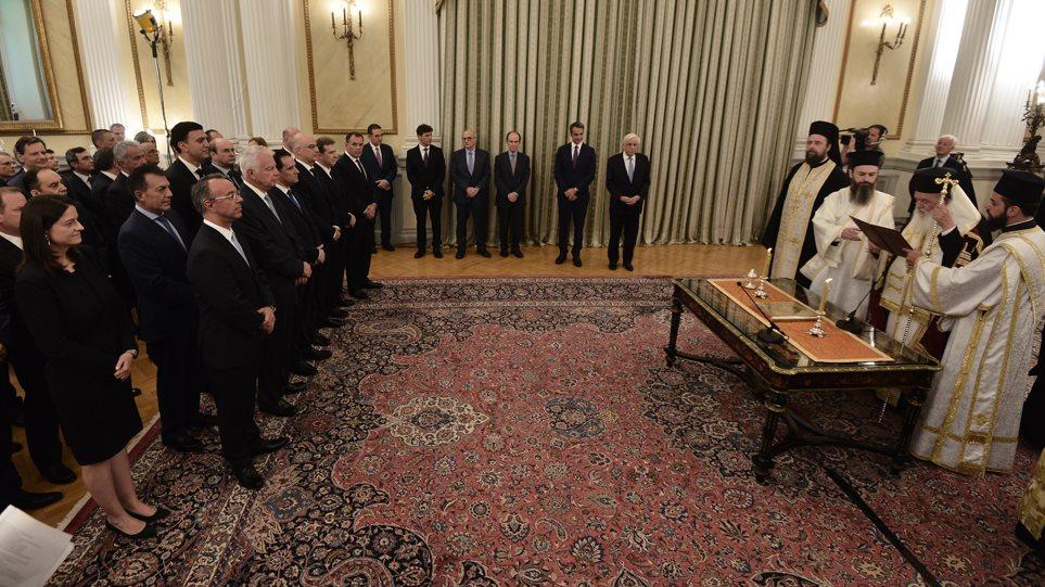 Ορκίστηκε η νέα κυβέρνηση στο Προεδρικό Μέγαρο