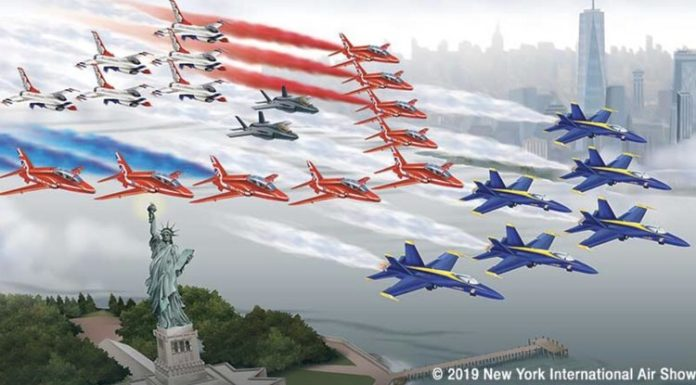 Τέσσερα ακροβατικά σμήνη μαζί στην αεροπορική έκθεση της Νέας Υόρκης