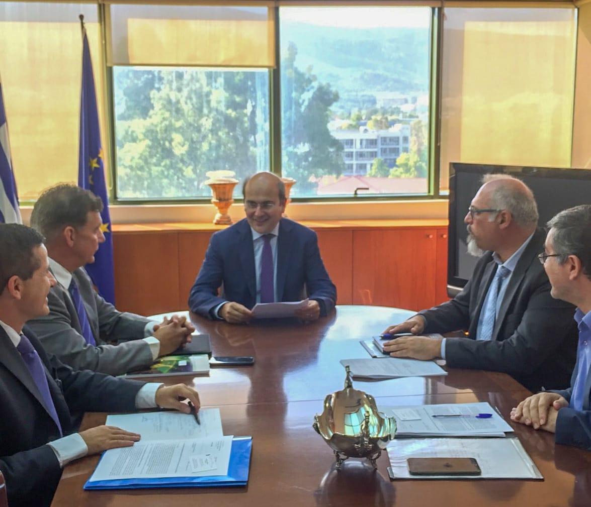 Συνάντηση Κ. Χατζηδάκη με τον πρύτανη του ΕΚΠΑ Μελέτιο-Αθανάσιο Δημόπουλο