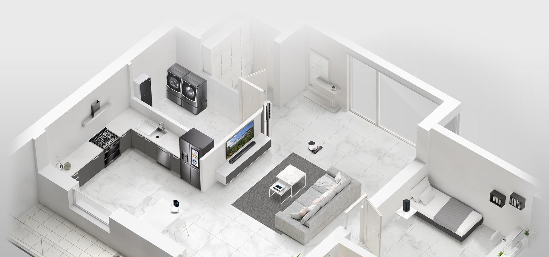 Η LG μετατρέπει το σπίτι σε «έξυπνο» νοικοκυριό