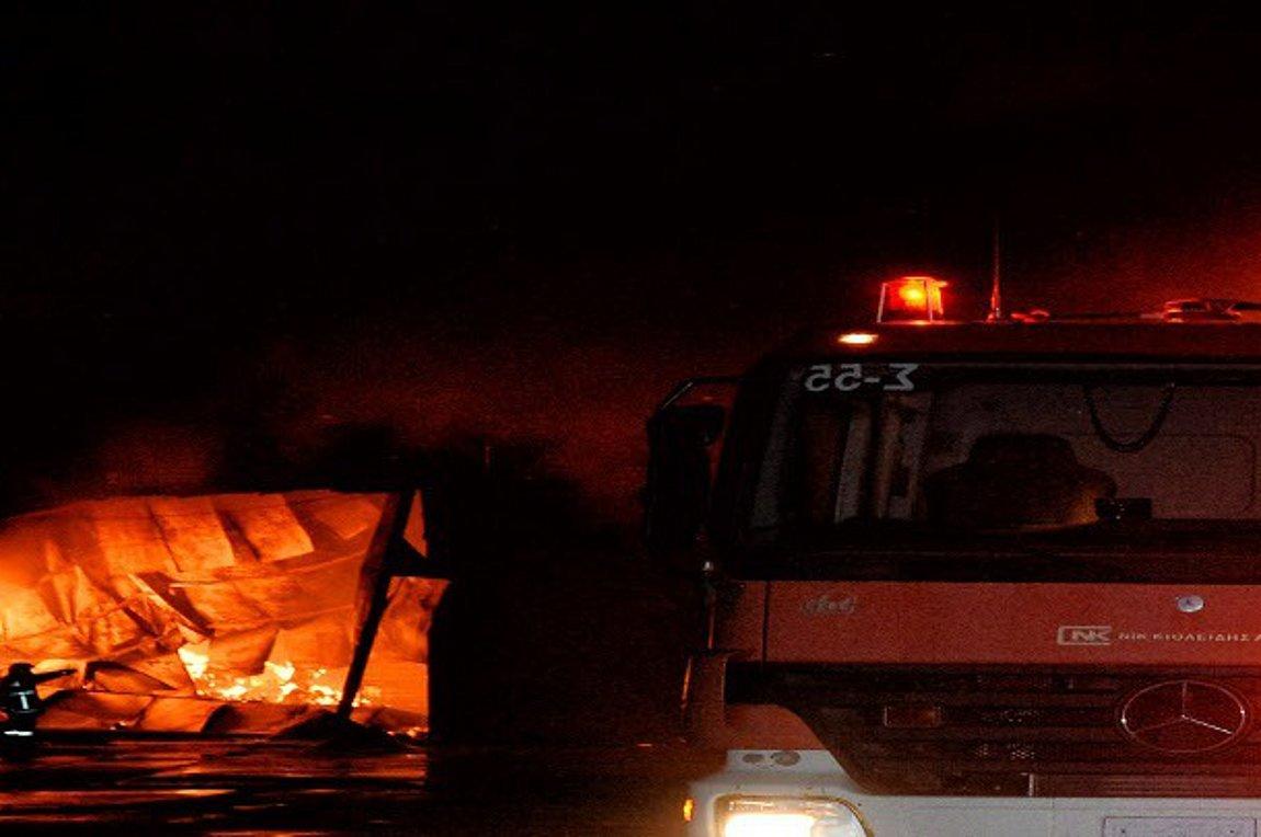 Φωτιά σε εργοστάσιο ανακύκλωσης μετάλλων στη Θεσσαλονίκη