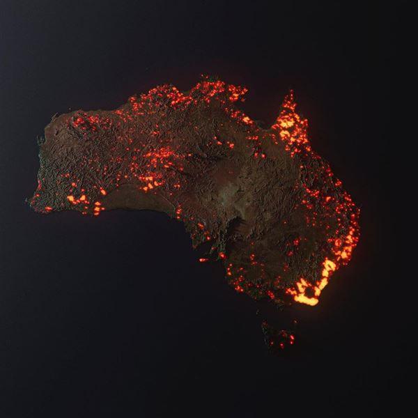 Η αλήθεια για τον χάρτη με τις φωτιές στην Αυστραλία που έχει γίνει viral