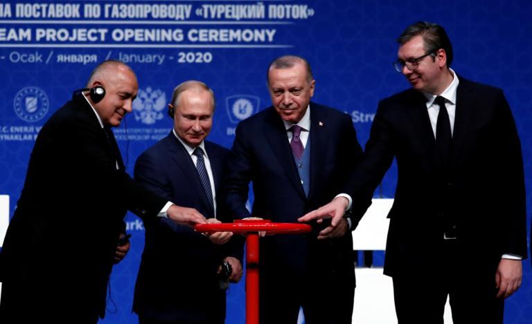 Προκάλεσε και στα εγκαίνια του TurkStream ο Ερντογάν