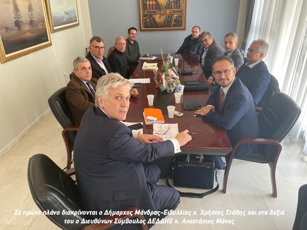 Συνεργασία ΔΕΔΔΗΕ – Δήμου Μάνδρας για αντιμετώπιση ακραίων καιρικών φαινομένων