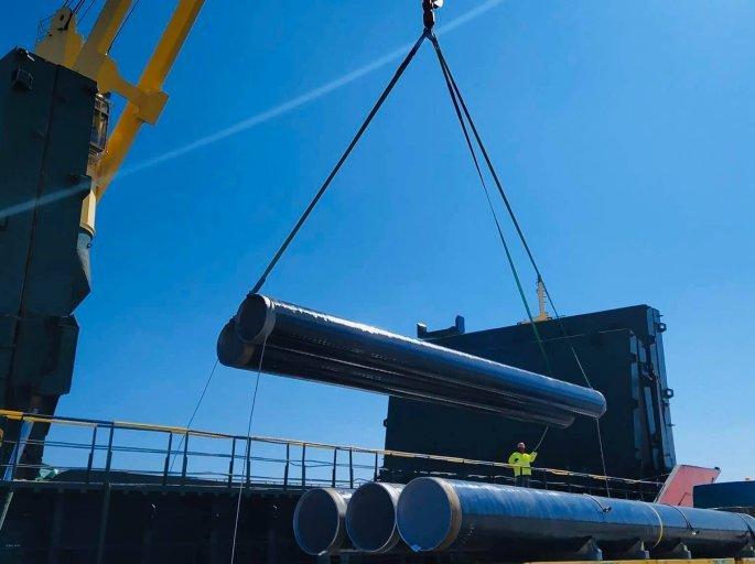 Στο Λιμάνι της Αλεξανδρούπολης οι πρώτοι σωλήνες του αγωγού φυσικού αερίου IGB