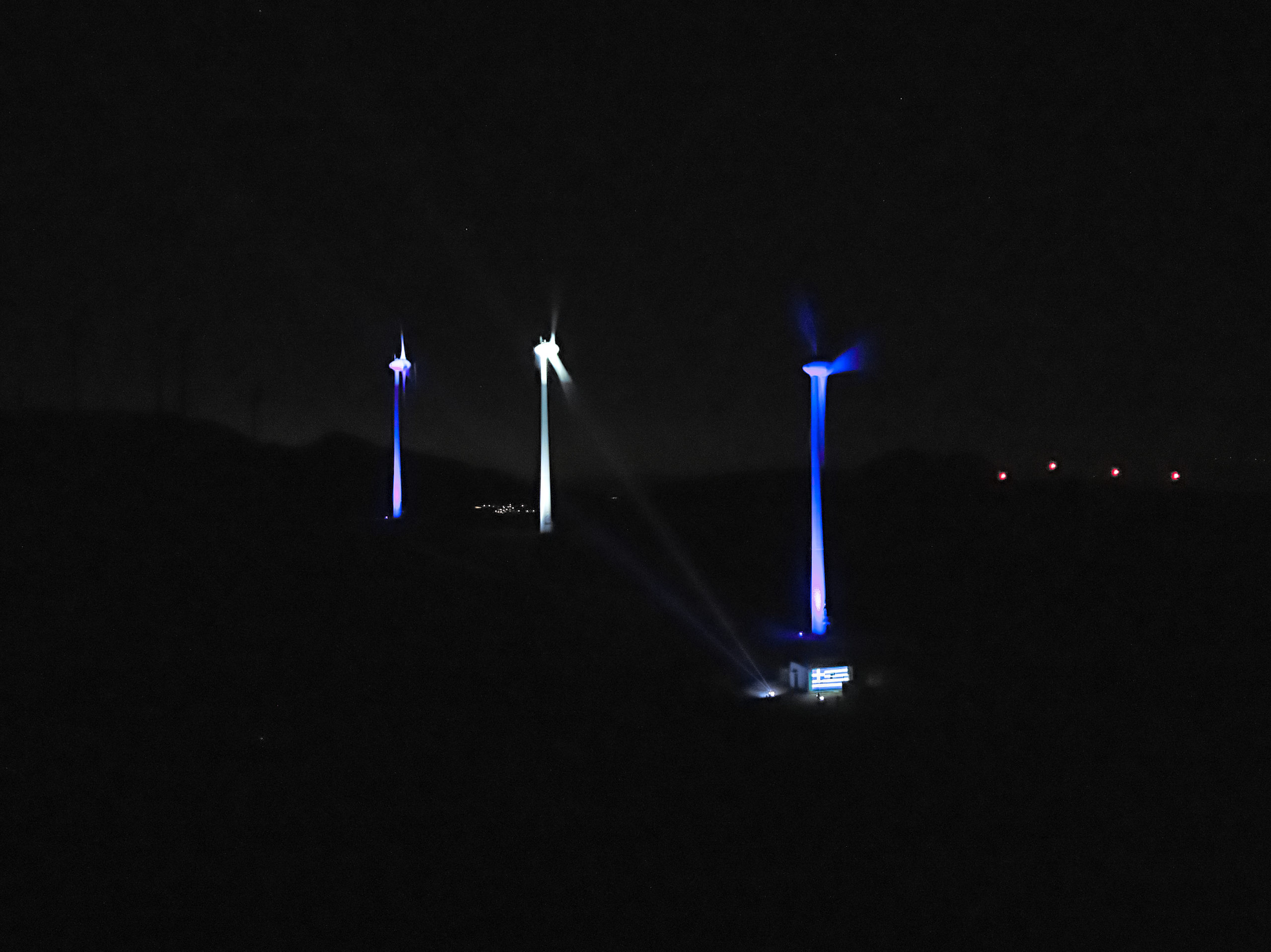 Η ελληνική και η ιταλική σημαία φώτισαν τα πάρκα της Enel Green Power