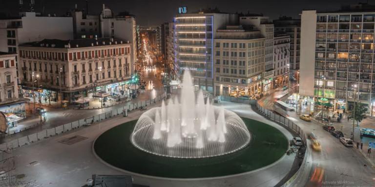 Ανοίγει η νέα πλατεία Ομονοίας με το εντυπωσιακό σιντριβάνι (VIDEO)