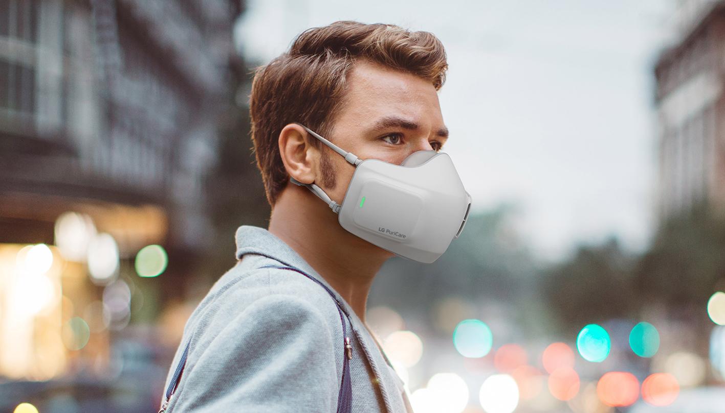 Η LG πρωτοπορεί με την παρουσίαση της μάσκας AIR PURIFIER PURICARE™