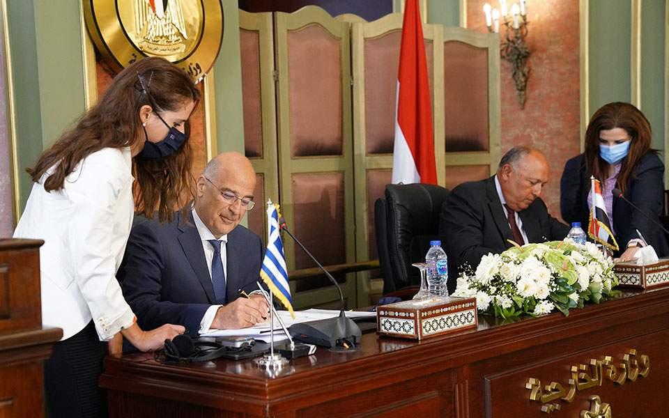 Υπεγράφη η συμφωνία Ελλάδας – Αιγύπτου για την ΑΟΖ