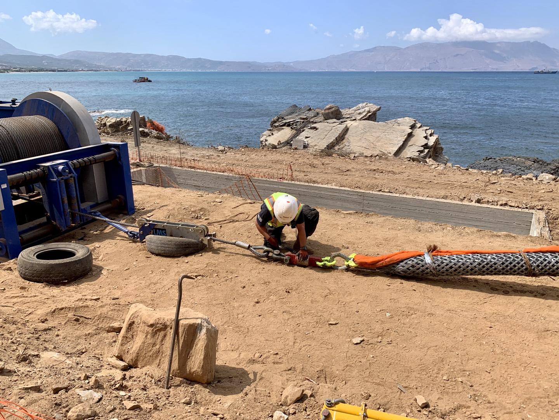 Ξεκίνησε η πόντιση του καλωδίου της μικρής διασύνδεσης της Κρήτης