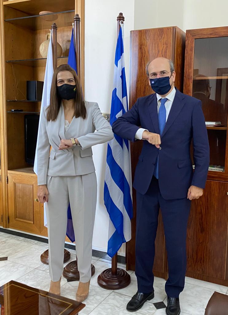 Συνάντηση Κ. Χατζηδάκη με την υπουργό Ενέργειας, Εμπορίου και Βιομηχανίας της Κύπρου, Νατάσα Πηλείδου