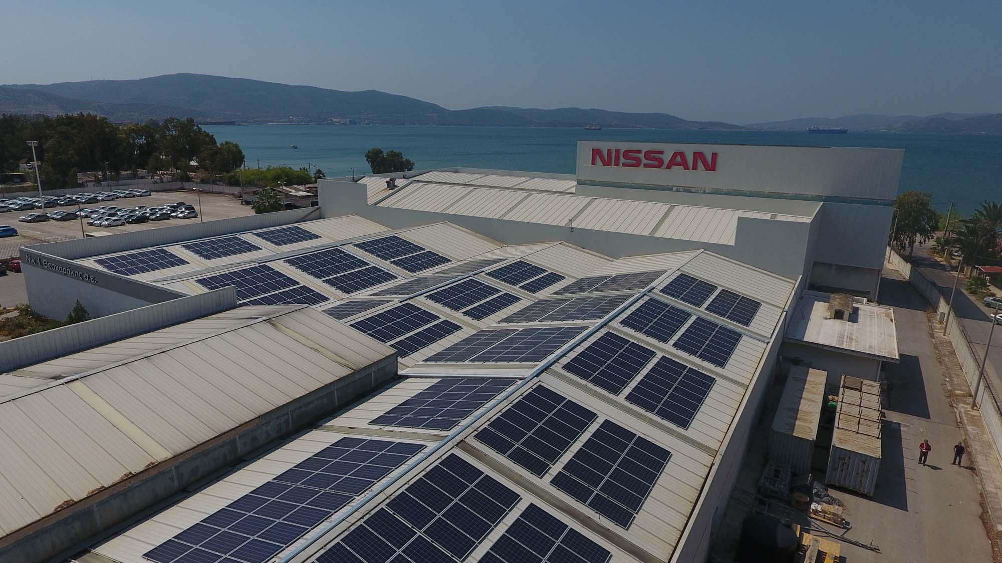 Ολοκλήρωση του φωτοβολταϊκού συγκροτήματος  της Nissan Νικ. Ι. Θεοχαράκης Α.Ε στον Ασπρόπυργο
