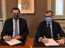 Mathios Rigas (CEO Energean), Nicolas Monti (CEO Edison)