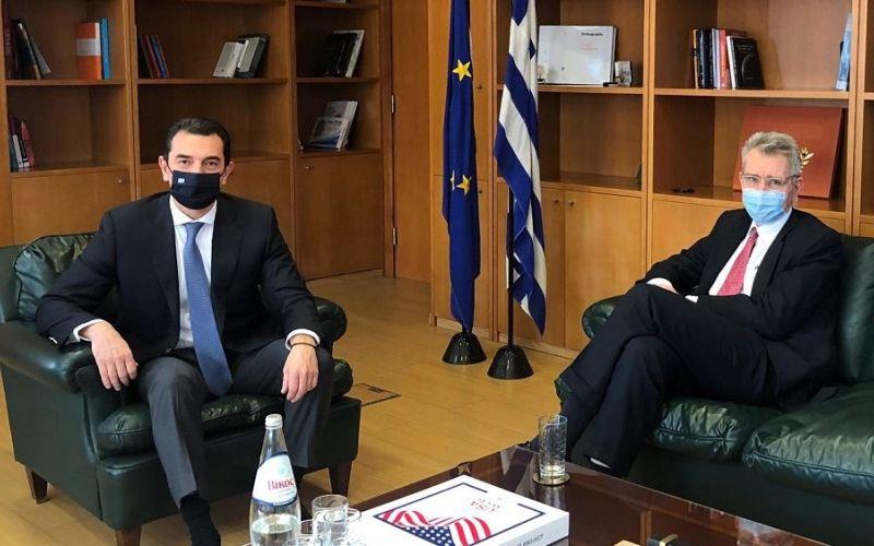 Συνάντηση Σκρέκα με τον πρέσβη των ΗΠΑ