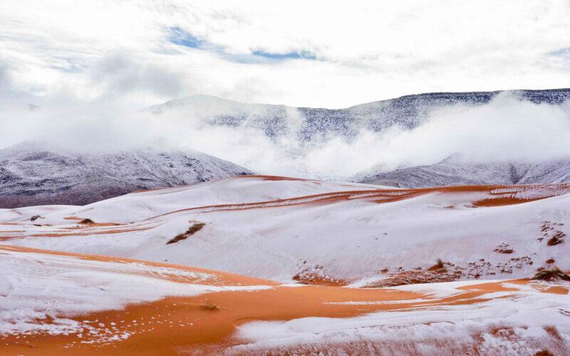 Η έρημος Σαχάρα ντύθηκε στα… «λευκά»! (ΒΙΝΤΕΟ)